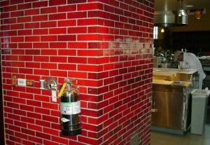 Custom Cinnamon Glazed Brick - Taps Fish House and Brewery - Corona, CA